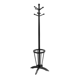 Winsome Wood Linea Coat Tree with Umbrella Stand 24 W x 24 D x 71 H, Dark Espresso Finish