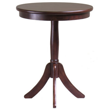 Winsome Wood Belmont End Table with Pedestal Legs