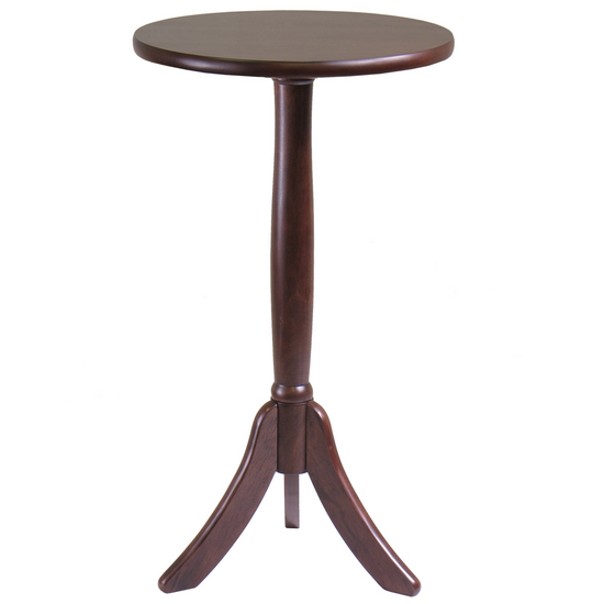 Winsome Wood Belmont Accent Tea Table, Cappuccino, 14W x 14D x 25H