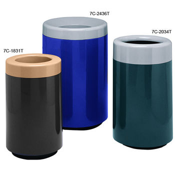 Two Piece Round Top Entry Fiberglass Receptacles