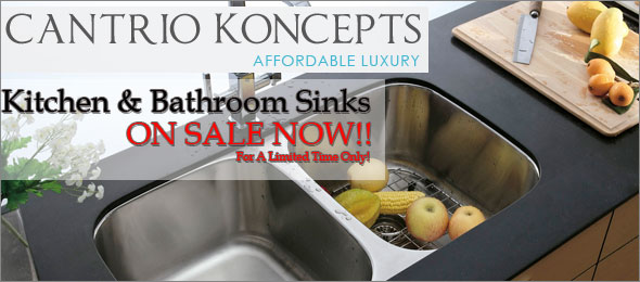 Cantrio Kitchen and Bathroom Sinks On Sale!