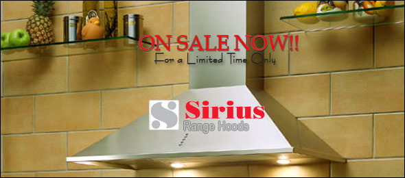 Sirius Range Hoods, On Sale