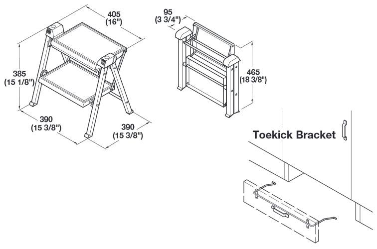 Excellent Step Stools Hafele Stepfix Folding Step Stool Evergreenethics Interior Chair Design Evergreenethicsorg