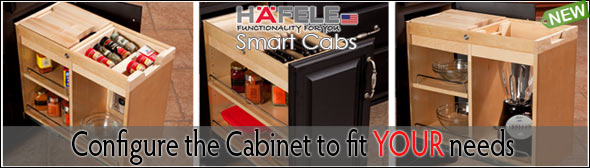 Configure your Cabinet to fit your needs with Hafele Smart Cab