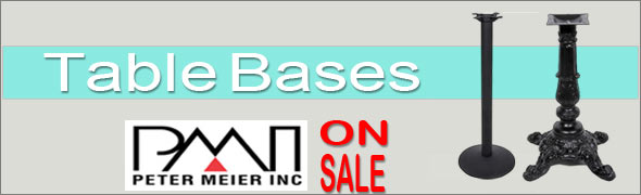 Peter Meier Table Bases On Sale
