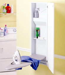 Broan Built in ironing center with wall mounted ironing board ,iron rest and Oak door at Sears.com