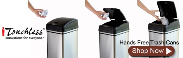 iTouchless Hands Free Trash Cans