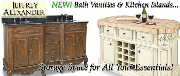 New Jeffrey Alexander Bathroom Vanities & Kitchen Islands