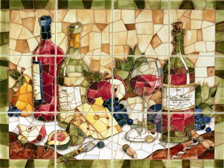 Mosaic Wine Kitchen Backsplash