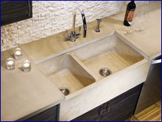 Concrete Farm Sink by J. Aaron