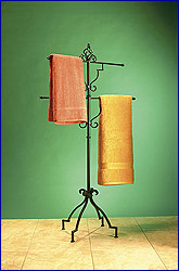 Tall Swivel Towel Stand by Steel Worx