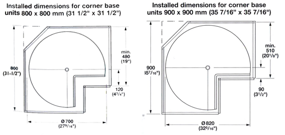lazy susans shop for cabinet lazy susans and built in lazy susans. Black Bedroom Furniture Sets. Home Design Ideas
