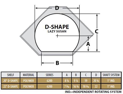 rev a shelf 39 39 traditional d shaped independently rotating 2 shelf lazy susans for diagonal. Black Bedroom Furniture Sets. Home Design Ideas
