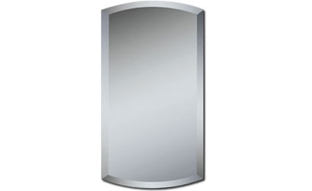 Alno Euro Series Frameless Recessed Single Medicine Cabinet with Beveled Arch Mirror 14 inchW x 4 inchD x 24 inchH