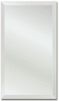 Alno Stainless Steel Frameless Recessed Single Door Medicine Cabinet with Beveled Edge and Reversible Hinge 14 inchW x 4 inchD x