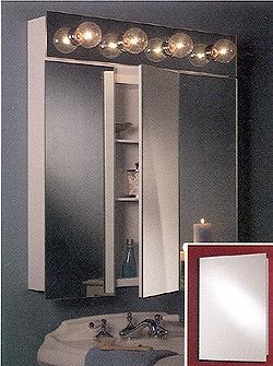 Broan Focus Frameless Steel Recessed Single Door Medicine Cabinet 16? W x 3 11/16? D x 22? H
