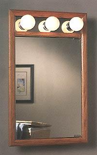 Broan Oakdale Honey Oak Wood Framed Recess/Wall Surface Medicine Cabinet 17 13/16 inch W x 4 1/4 inch D x 29 inch H
