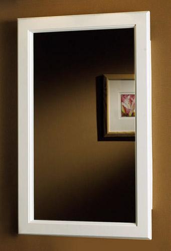 Broan Prairie White Framed Recessed Medicine Cabinet 4 1/2 inch D