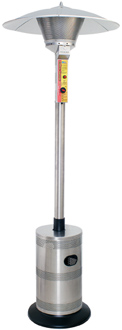 Uniflame Commercial Outdoor Patio Heater in Stainless Steel LP