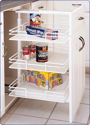 Rev-A-Shelf inchShortyinch Base Cabinet Pull-Out Pantry, 8-7/8inch W