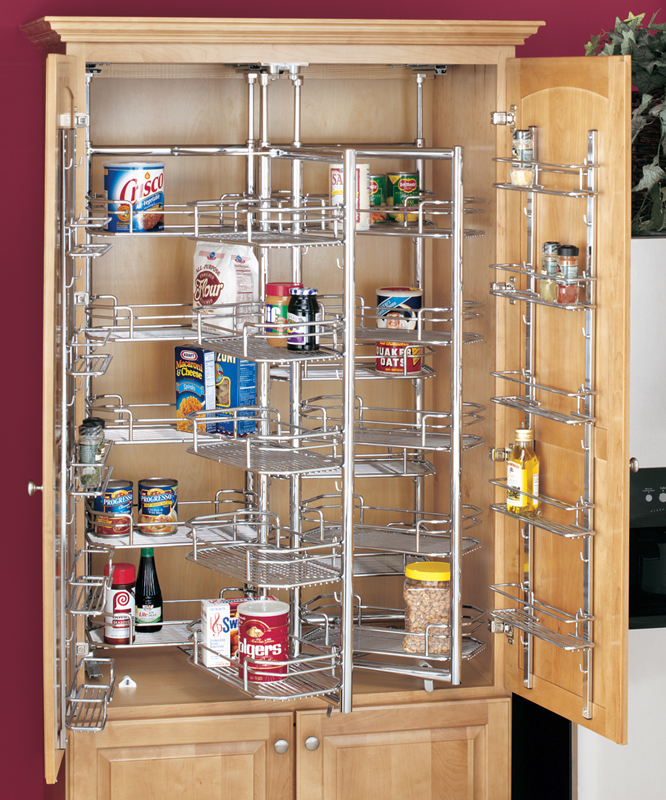A Shelf 58 15c 5 Chrome Pull Out Basket: Pantry