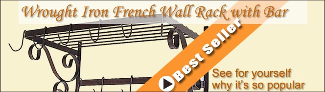 Grace Wrought Iron Pot Racks On Sale Now!