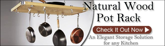 Natural Wood Pot Racks by Concept Housewares On Sale Now!