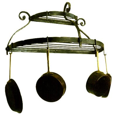 Wall Mount Double Shelf Pot Rack