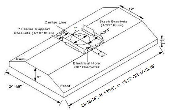 range hoods  imperial slim line island range hood with air ring fan  385 cfm