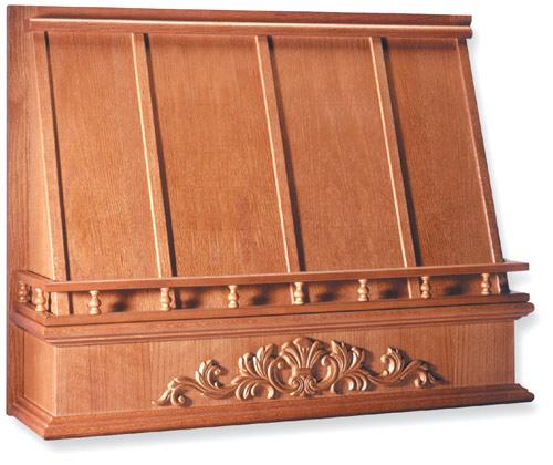 wood hood front