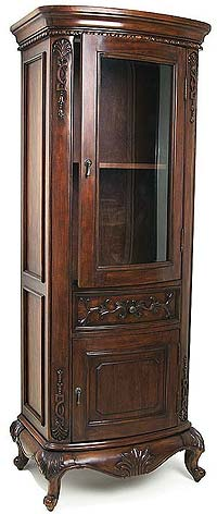 Empire Lido Collection Alder Frame Bathroom Curio Cabinet 72 inch H