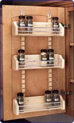 Rev-A-Shelf Adjustable Door Mount Spice Rack for 18 inch Cabinet