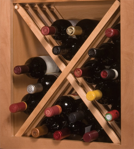 National Products Russian River Wine Rack for 24 inch Cabinet, Maple