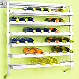 Peg Rail Wine Racks