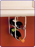 Double Bottle Rack - Satin Nickel