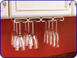 Stemware (Quad) - Satin Nickel