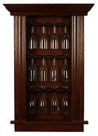 Winsome Espresso Wine Cabinet with Glass Door | Wayfair