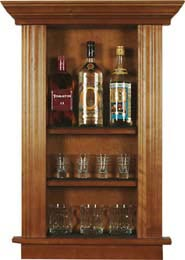 Medium Bar Back Booze and Rock Glass Cabinet